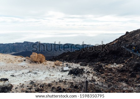 Fantastisch spaans vulkaan vulkanisch soortgelijk Stockfoto © ruslanshramko