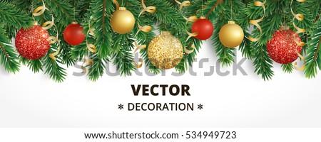 Karácsony buli csillog fa zöld szórólap Stock fotó © SArts