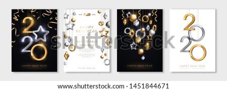 Feliz ano novo ilustração 3D ouro número natal Foto stock © articular