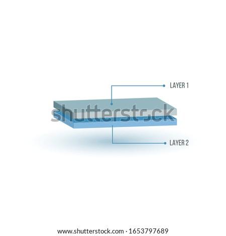 Iki yapı örnek 3D perspektif Stok fotoğraf © kyryloff