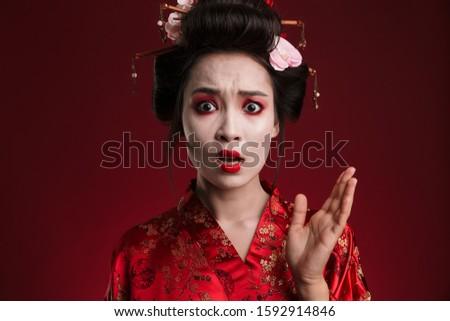 изображение гейш женщину Японский кимоно Сток-фото © deandrobot