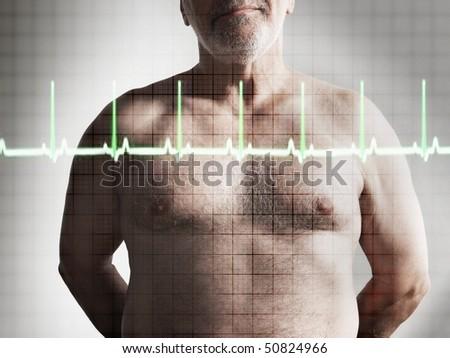 Supérieurs Homme patient permanent Photo stock © wavebreak_media