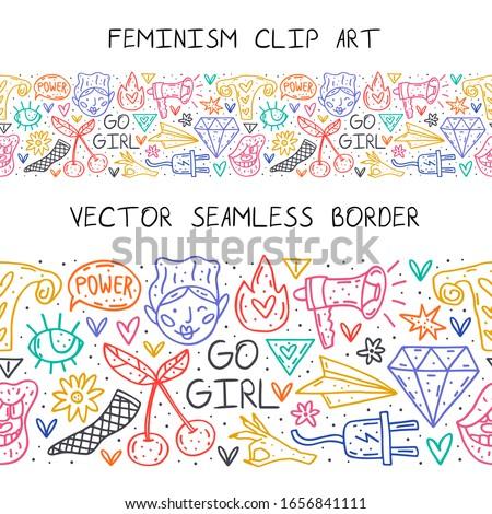 Lány aranyos rajz kézzel rajzolt firka vektor Stock fotó © foxbiz