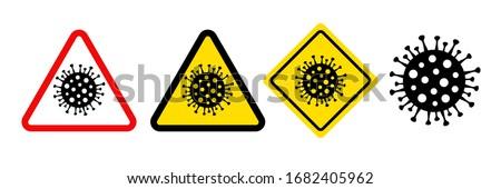 Podpisania niebezpieczeństwo ostrożność choroba symbol Zdjęcia stock © Glasaigh