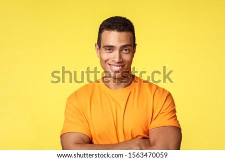 Męski człowiek tshirt krzyż broni piersi Zdjęcia stock © benzoix