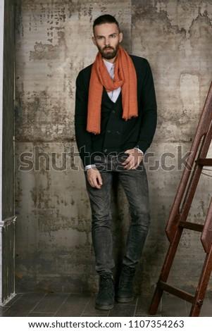 Verticaal jonge vent lichaam Stockfoto © benzoix
