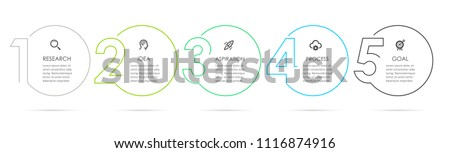 Vector infographics timeline design template with square elements. Content, schedule, timeline, diag Stock photo © ukasz_hampel