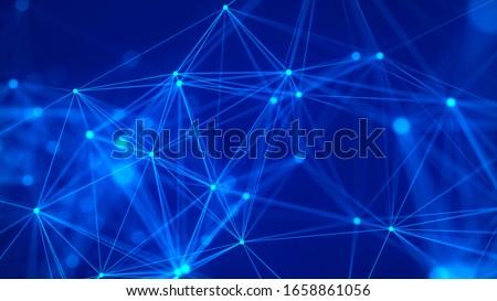 Blockchain network connection structure, data digital background. Stock photo © artjazz