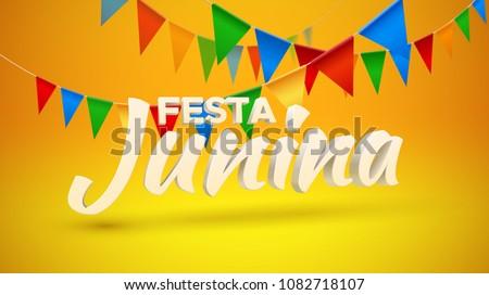 celebration background of festa junina event design Stock photo © SArts