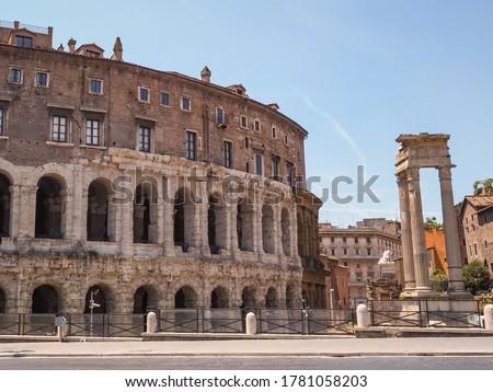 Rome. Ancient Marcello Theater and Temple of Apollo Medicus Sosi Stock photo © xbrchx