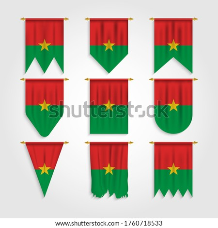 Vector set of the national flag of Burkina Faso in various creative designs Stock photo © butenkow