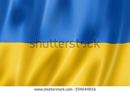 3D レンダリング フラグ ウクライナ 風 ストックフォト © butenkow