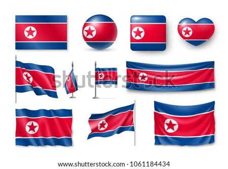Vektor szett zászló észak különböző kreatív Stock fotó © butenkow