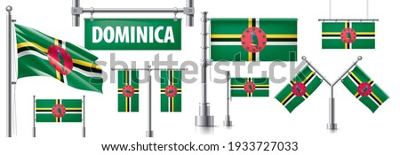 Vector set of the national flag of Dominica in various creative designs Stock photo © butenkow