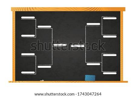 Sportu turniej szablon zespoły szkoły tablicy Zdjęcia stock © evgeny89