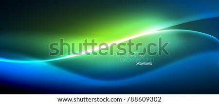 неоновых Swirl зеленый магия свет Сток-фото © evgeny89