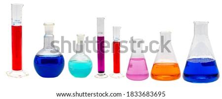 Diferente transparente produtos químicos conjunto medicina ciência Foto stock © evgeny89