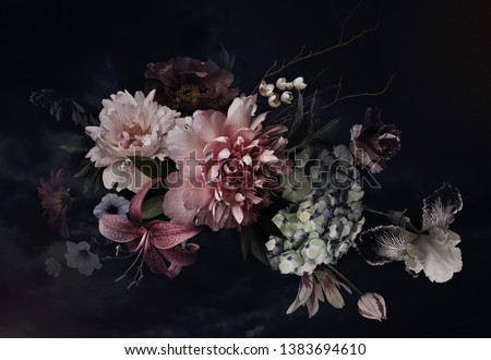 Bouquet of peony flowers as luxury floral background, wedding decoration and event branding Stock photo © Anneleven