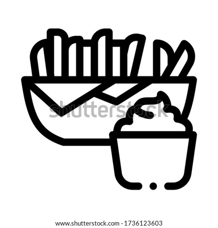 Mayonaise saus icon vector schets Stockfoto © pikepicture
