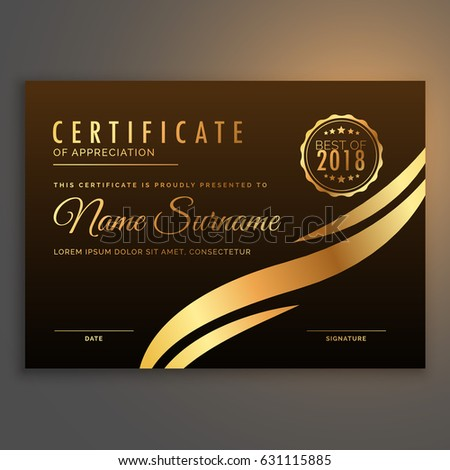 stylish premium certificate of appreciate template design Stock photo © SArts