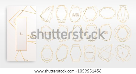collection of black and golden geometric logos  Stock photo © SArts