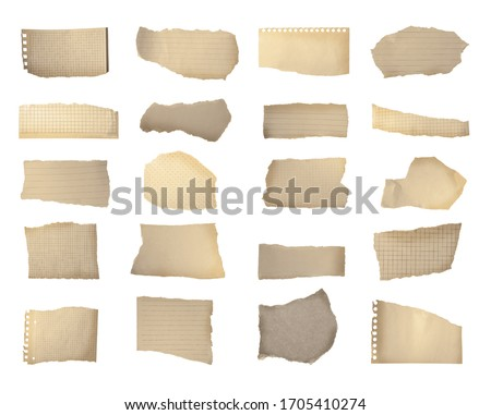 set of ripped torn papers in many colors Stock photo © SArts
