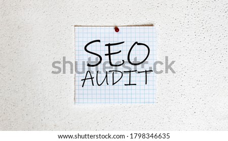 The word AUDIT and blank space background, vintage. Stock photo © vinnstock