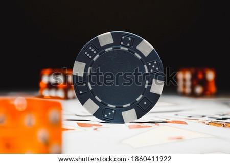 Stok fotoğraf: Mavi · poker · kartları · kavramlar · kumar