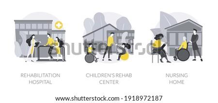 Children's rehabilitation center abstract concept vector illustration. Stock photo © RAStudio