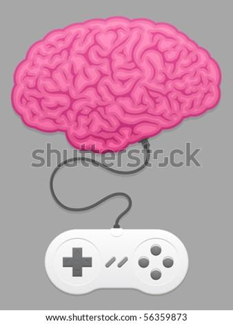 мозг компьютерная игра компьютер медицинской тело фон Сток-фото © adrian_n
