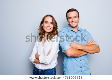 adult successful smiling man in casual business outfit isolated stock photo © juniart