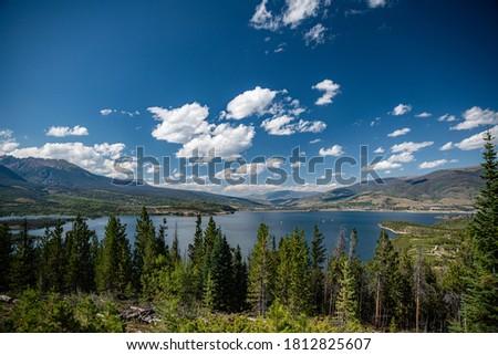 озеро Колорадо лет Восход гор Парусники Сток-фото © PixelsAway