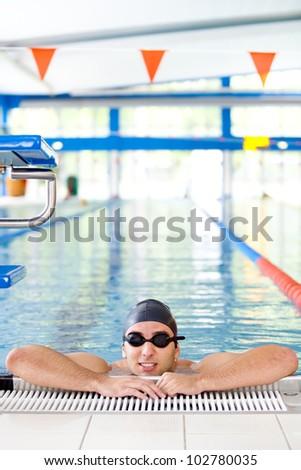 Masculino vários natação Foto stock © dacasdo