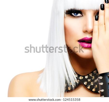 Peinado moda belleza nina punk estilo Foto stock © Victoria_Andreas
