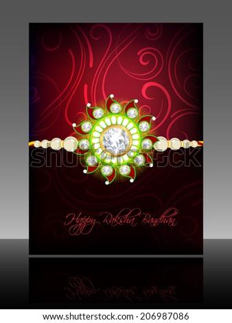 Beautiful Hindu rakhi card colorful presentation vector design Stock photo © bharat