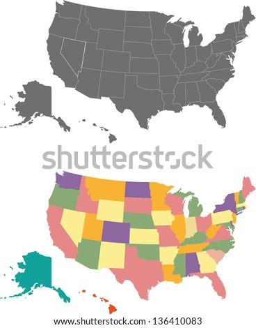 Harita Amerika Birleşik Devletleri Kuzey Dakota dışarı siyasi tüm Stok fotoğraf © Istanbul2009