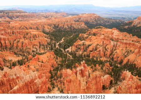 beautiful landscape in Bryce Canyon with magnificent Stone formation like Amphitheater, temples, fig Stock photo © meinzahn