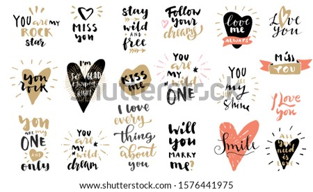 calligraphic i love you valentines day text colorful background stock photo © bharat