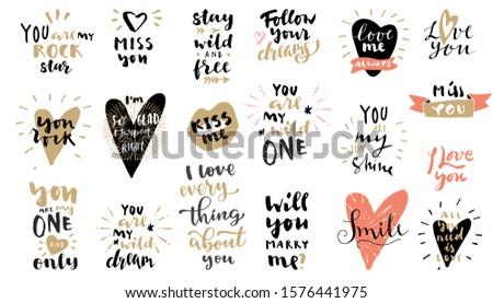 Amor dia dos namorados texto colorido projeto Foto stock © bharat