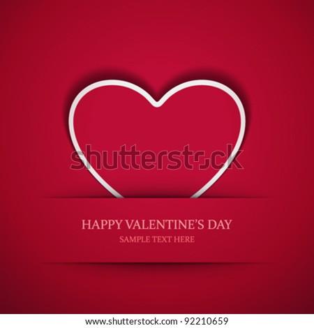paper sticker valentines day eps 10 stock photo © beholdereye