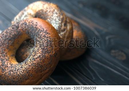 Stok fotoğraf: Taze · lezzetli · susam · haşhaş · tohumları · rulo