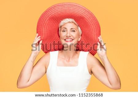 портрет задумчивый женщину изолированный белый Сток-фото © deandrobot
