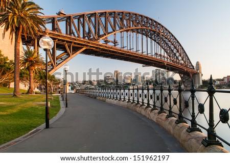 Sydney Hafen Brücke ruhig Frühling sunrise Stock foto © Mariusz_Prusaczyk