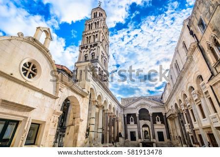katedral · aziz · çan · kule · Hırvatistan · gökyüzü - stok fotoğraf © smuki