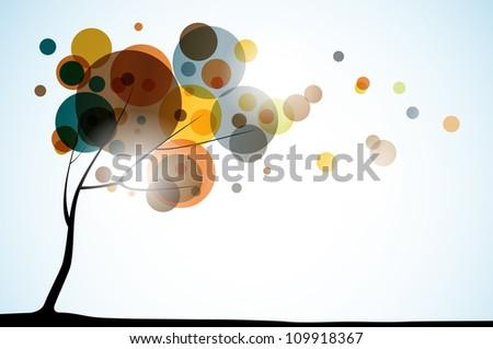 sarı · dekoratif · düşmek · kart · şablon - stok fotoğraf © galyna
