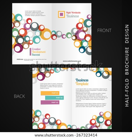 Stylish Modern Bifold Brochure Design For Your Business Presenta Stockfoto © PinnacleAnimates