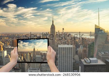 нижний фото рук таблетка экране Сток-фото © iordani