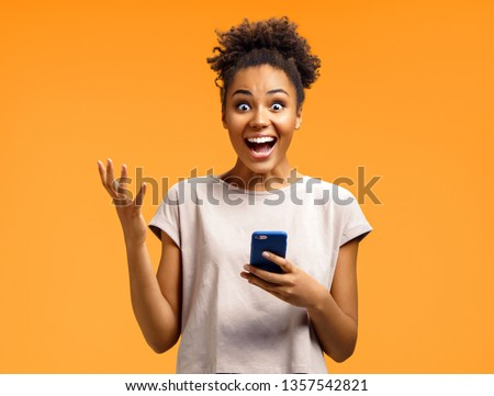 young happy smiling latin american teenage girl emotional posing on white background, lifestyle peop Stock photo © iordani