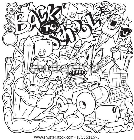 de · volta · à · escola · crianças · cartaz · crianças · leitura · livros - foto stock © pashabo