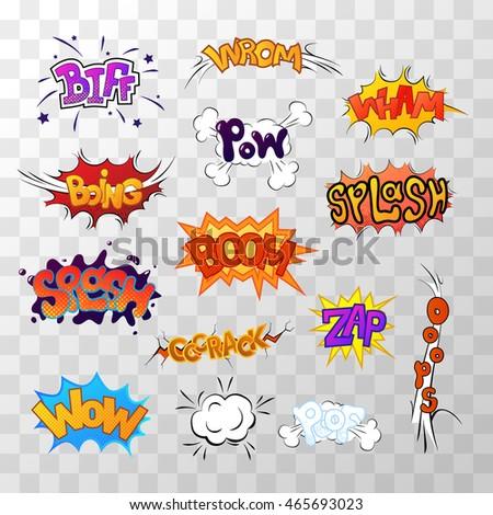 Smash! Comic sound. Comic speech bubble. Halftone transparent ba Stock photo © pashabo